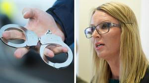 Fotomontage.Kammaråklagare Jessica Wenna har begärt att den misstänkte barnvåldtäktsmannen från Sala skall häktas.