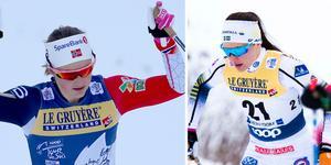 Ingvild Flugstad Östberg och Moa Molander Kristiansen. Foto: Karl-Josef Hildenbrand/TT och Terje Pedersen/TT