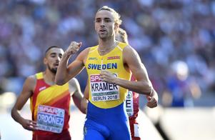 Andreas Kramer slog till med ett EM-silver på 800 meter i Berlin i fjol. Nu är han den största svenska stjärnan i U23-mästerskapet i Gävle. Bild: AP Photo/Martin Meissner