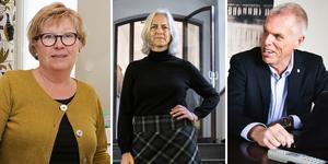 Kommundirektörerna Kerstin Söderlund, Pernilla Wigren och Anders Friberg.