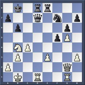 Lösning: 1.Sa6+ Kc8 2.Da8.