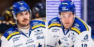 Valkvae-Olsen och Fransson. Den förstnämnde kunde återvända i matchen, det gjorde inte Fransson Foto: Bildbyrån.