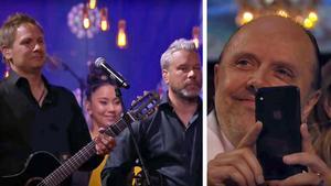 Andreas Nordling och Mathias Parkow från Ludvika fick chansen att uppträda inför barndomsidolerna Metallica på Polarmusikgalan på torsdagen.Foto: TV4