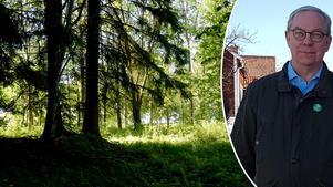 Magnus Gabrielson är kritisk till att för mycket skog försvinner om man bygger bostäder bredvid pulkabacken i Säter.