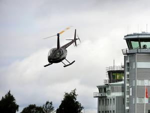 Flygledningen på Åre-Östersund flygplats hanterar förutom reguljär flygtrafik även de helikoptrar och annan privat flygtrafik som finns i området.