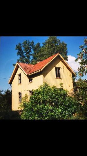 Så här såg huset ut när paret köpte det.