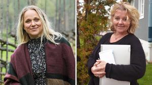 Sara Telde, redaktör för Pralin (vänster), Katarina Cham, nyhetsreporter i Mora (höger).