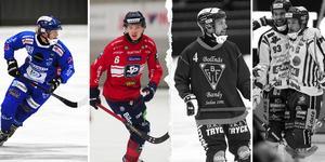 Robin Öhrlund och Oscar Wikblad, födda 1997, är två stora framtidsnamn. Per Hellmyrs och Jesper Eriksson, från 1983-generationen, är landslagsstjärnor i slutet av sina karriärer. Foto: Andreas Tagg / Rikard Bäckman