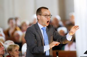 Domkyrkoorganisten Johan Hammarström är en ambitiös kraft i Västerås musikliv. Foto: Anders Forngren