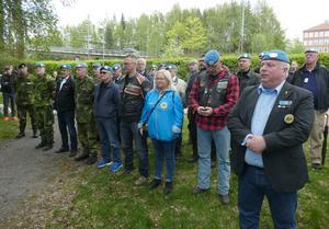 Medlemmar i Z-bataljonen deltog i ceremonin. Foto: Stig-Björn Sundell
