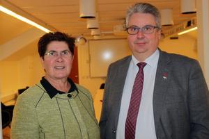 Landshövding Ylva Thörn besökte Malung och diskuterade aktuella kommunala frågor med kommunalrådet Hans Unander och kommunledningen.