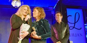 Good Harvest tog emot priset som Årets band, utdelat av Björn Skifs, på Dalecarlia Music Awards 2018. Vem vinner nästa år? Foto: Johanni Sandén