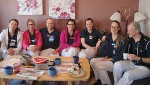 Personal på Lits hälsocentral. Från vänster Idun Winqvist, Birgitta Aldevärn, Pär Bodén, Anna Blixth, Jurgita Juciene, Frida Skoog och Johan Sernheim. Foto: Sture Björk