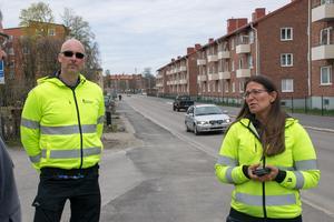 Daniel Jonsson och Anneli Harr är projektledare vid gatuavdelningen på Sundsvalls kommun.