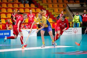 Emelie Wibron har nu gjort över 100 poäng i landslaget. Bild: IFF