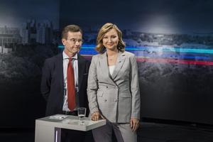 Moderaternas partiledare Ulf Kristersson (M) och Kristdemokraternas partiledare Ebba Busch Thor (KD).