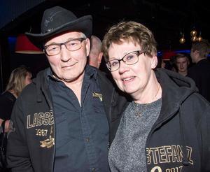 Steinar och Inga Guterud hade åkt från Norge för att se och höra sina idoler.