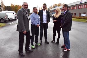 Thomas Perkiö, vd Siljans chark, Frank Eldin, marknadschef, Axel Sannö, veterinär på Gård- och Djurhälsan samt Anders Michaelsson, grisbonde.