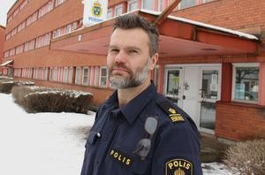 Pär Israelsson, utredningschef vid Ludvikapolisen, noterar belåtet att punktmarkeringen av livsstilskriminella gett resultat