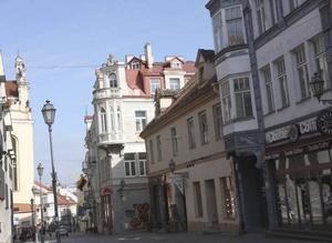 Gedimino. Huvudgata och den stora shoppinggatan i Vilnius.