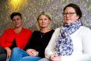 Jessica Fernström, Helena Holm, Helena Westman driver Corab Assistans AB tillsammans med den fjärde delägaren Anette Lindh.