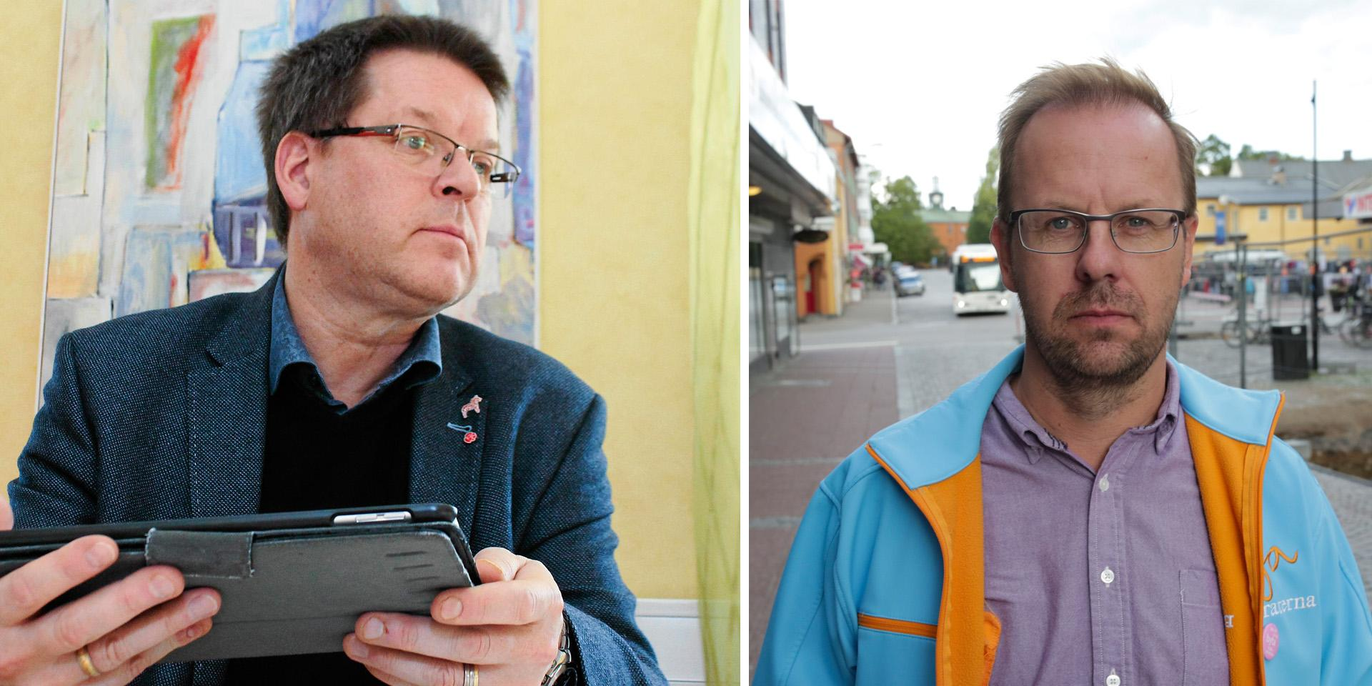 Håge Perssons Moderaterna kommer styra Ludvika tillsammans med bland annat Leif Petterssons Socialdemokraterna. Bilden är ett montage.