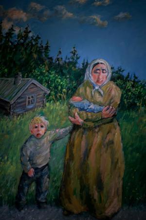 Batte Sahlin är en viktig konstnär som dokumenterat Husås historia.