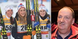 Markus Cramer är inte nöjd över Charlotte Kalla, Therese Johaug och Ebba Andersson.