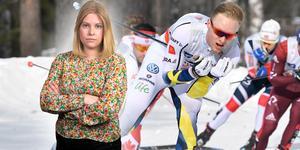 Oskar Svensson hade en lite tyngre dag, när han blev av med staven och tvingades åka med bara en under en längre tid. Sportens Camilla Westin listar det hetaste från världscupen i Holmenkollen. Bilden är ett montage.