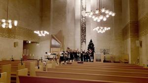 Körerna repeterar i Baptistkyrkan men konserten hålls i S:ta Ragnhilds kyrka.