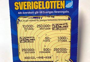 Någon i Värnamo skrapade fram 250 000 kronor så här lagom till påsk.