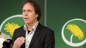 Pär Holmgren, tidigare tv-meteorolog står som tvåa på Miljöpartiets lista till Europaparlamentsvalet . Foto: Anders Wiklund