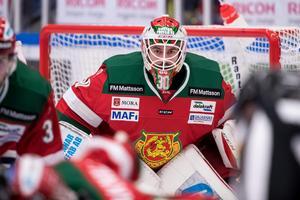 Mattias Pettersson tog chansen mot Luleå. Det var hans första SHL-seger. Foto: Daniel Eriksson/Bildbyrån