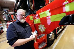 Björn Olsson, ansvarig för sociala medier på Räddningstjänsten Dala Mitt.