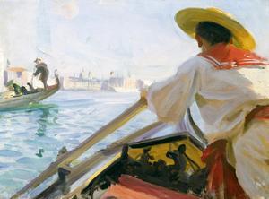 Emma Zorn blev förtjust i en gondoljär i Venedig. Anders Zorn målade honom på hennes begäran – men bara bakifrån.