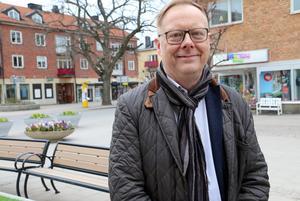 Niclas Axelson, ordförande i Nynäshamns stadskärneförening.