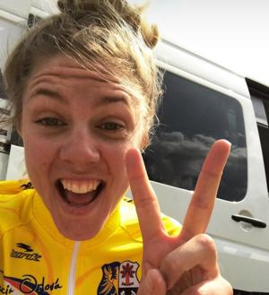 Instagram-selfie direkt efter segern. Faksimil: Emilia Fahlins instagram