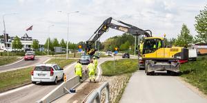 Vattenläcka vid Sibylla i Fagersta den 20 maj 2019.