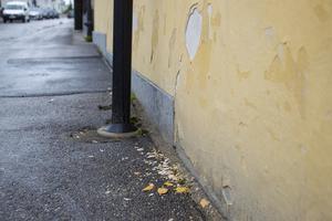 Längs fasaden ramla bitar av och det blir mer för varje år som går, säger Elisabet Breig Åsberg.