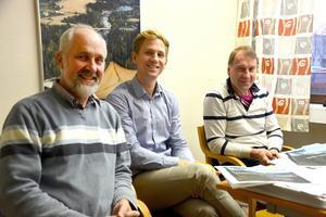 Göran Eriksson, Tommy Eriksson och Ulf Påhlsson tror på en framtid för den lokala handeln.