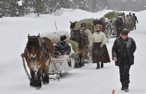 Snön har hållit forkörarna sällskap under årets färd.