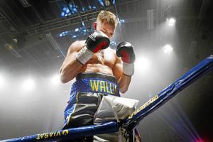 Otto Wallin tidigare under en proffsboxningsgala mot Gianluca Mandras.