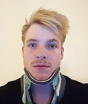 Edvin Lindh studerar vid cykelgymnasiet i Skara och det var under en träningstur som olyckan var framme.