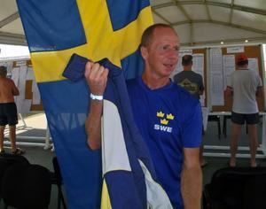 Magnus Falk från Iggesund satte nytt svenskt rekord i VM-finalen.    Foto: Lena Kaulanen