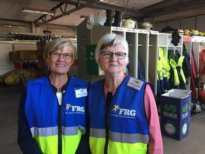 Christina Nilsson och Back Sara Eriksson fick uppleva sin första skarpa insats för FRG, Frivilliga Resersgruppen.
