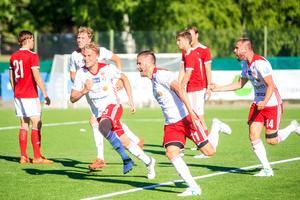 Andreas Smedbakken är bäste målskytt i HuFF tillsammans med Cihan Sener, de har gjort nio mål vardera.