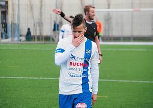 IFK Timrås Robin Bergman under en match den gångna säsongen.
