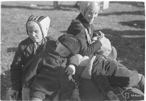 Finska krigsbarn 1944. Foto: SA-kuva.