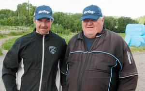 Jimmy och Alf Jonsson vid ett tidigare tillfälle.