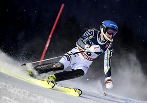 Lisa Hörnblad under damernas slalom i kombinationstävlingen i alpina VM.  Foto: Pontus Lundahl / TT /
